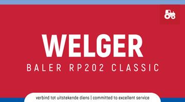 Welger Baler RP202 Classic
