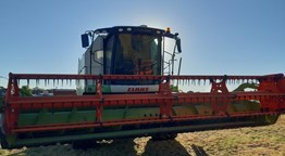 Claas Combine and Table