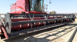 CASE Axial-Flow Combine and table