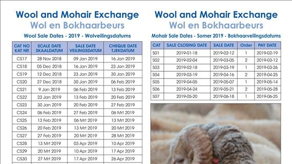 Wol- en Bokhaarveiling 2019 - Wool and Mohair Exchange 2019